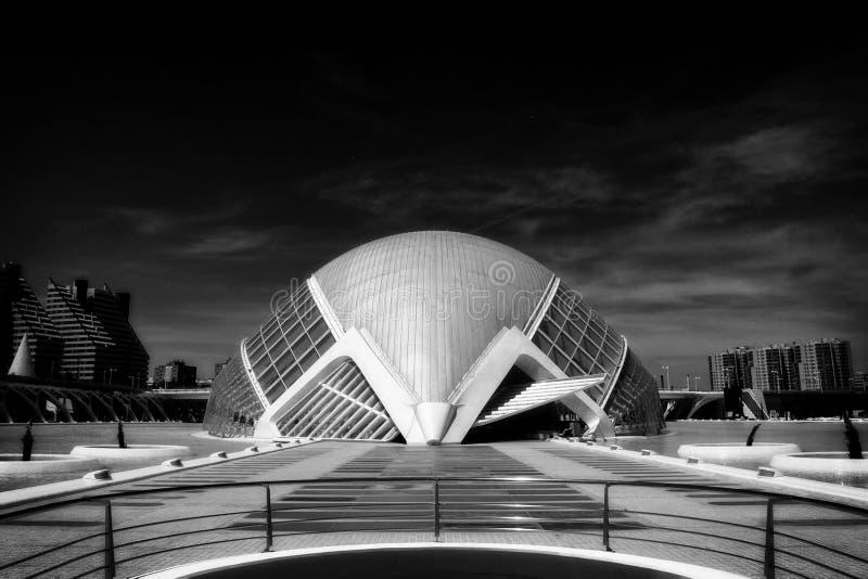 Calatrava w B&W obraz stock