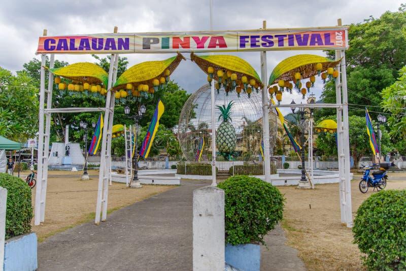 Calauan邦芽节日2017年 库存图片