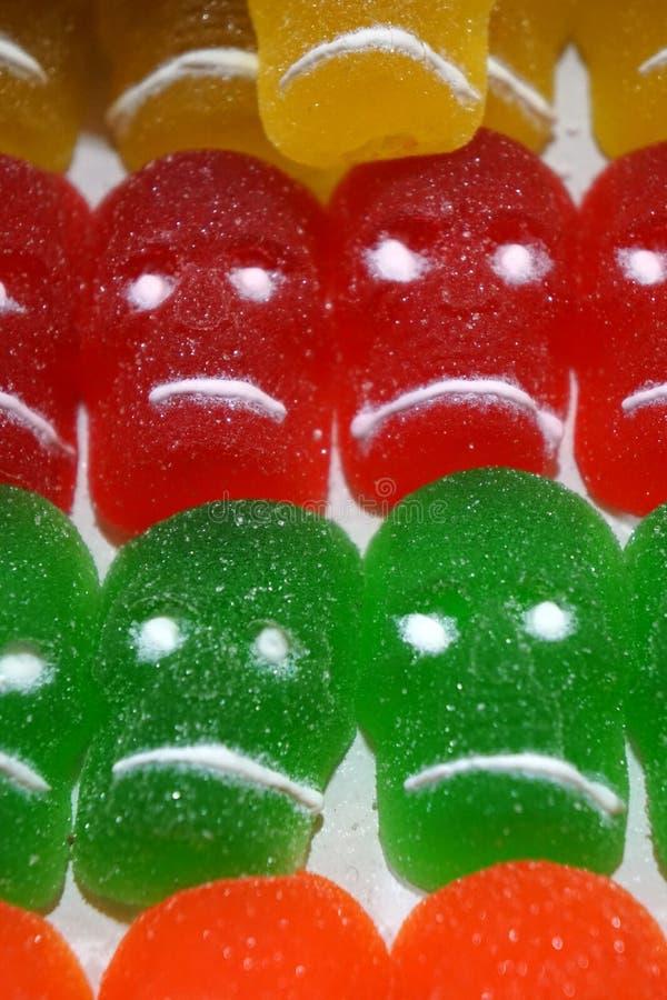 Calaveras de gummy fotografía de archivo