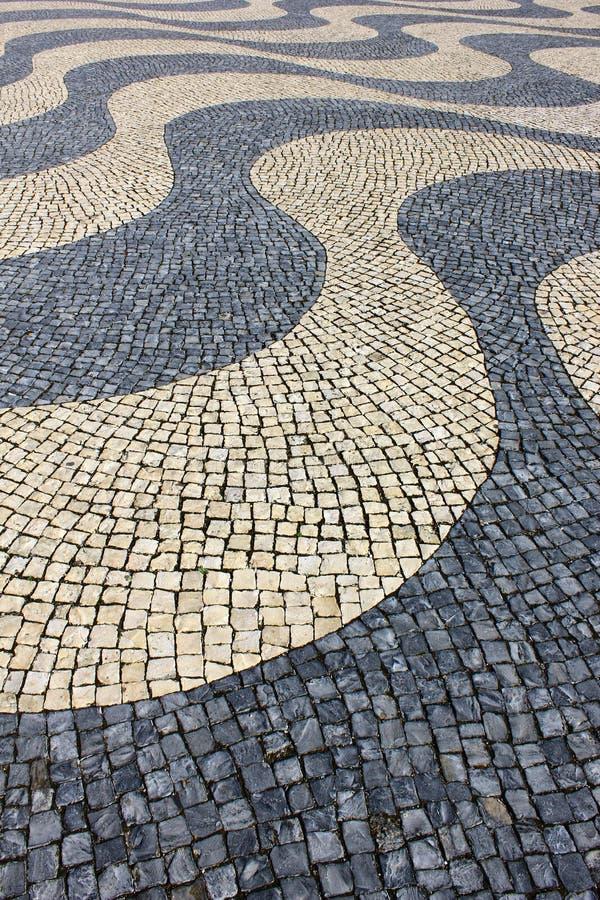 Calcada Portuguesa, pavimentazione portoghese fotografia stock libera da diritti