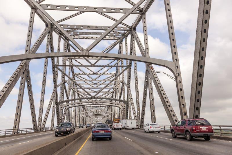 Calcasieu rzeki most w Westlake, usa fotografia stock