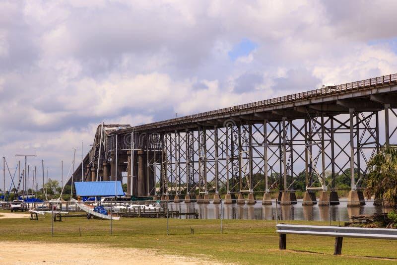 Calcasieu rzeki most w Westlake, usa obrazy royalty free