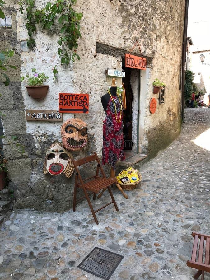 Artistic Store Calcata Italy royalty free stock image