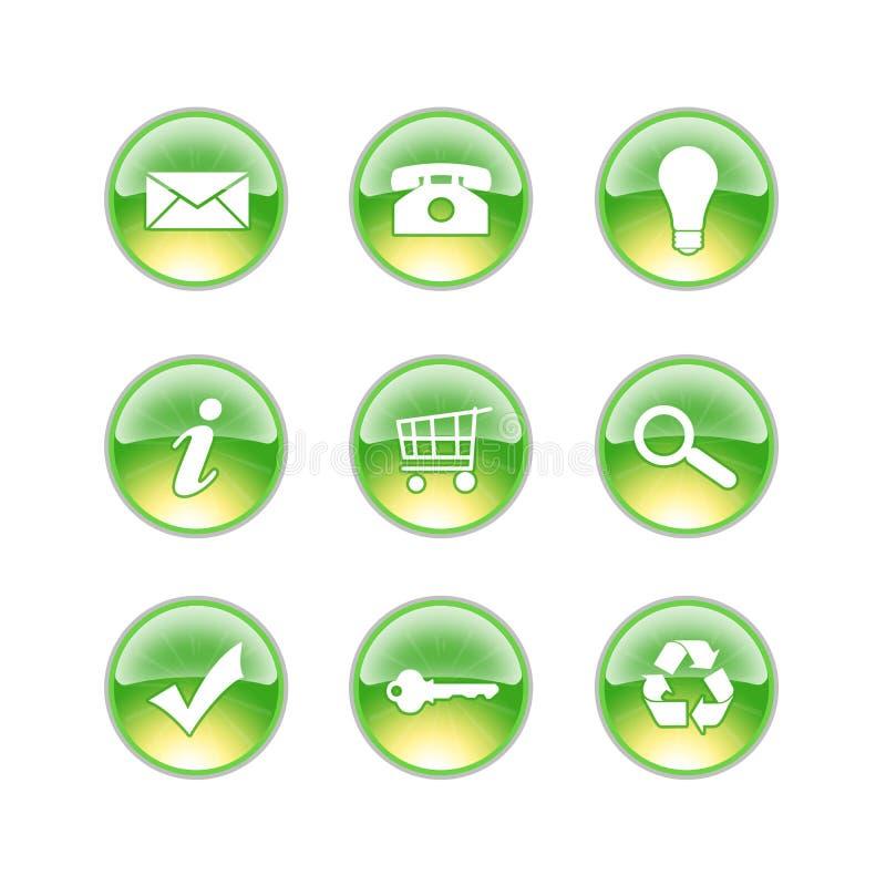 Calce di vetro delle icone illustrazione di stock