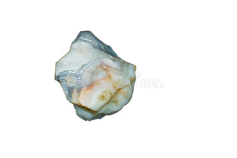 Calcedonia azul blanca del cristal de la geoda de la ágata imágenes de archivo libres de regalías