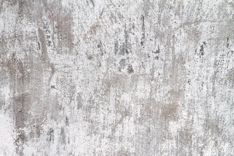 Calcestruzzo bianco di colore della vecchia parete fotografia stock