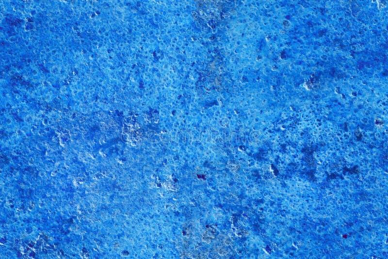 Calcestruzzo, gesso, stucco, struttura di lerciume e fondo blu senza cuciture immagine stock libera da diritti
