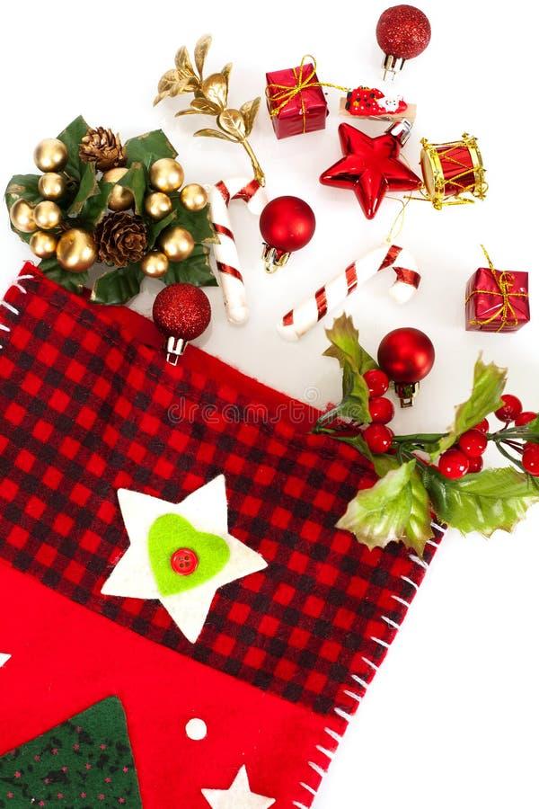 Calcetín de la Navidad fotografía de archivo libre de regalías
