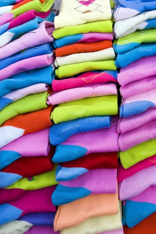 Calcetines coloridos foto de archivo