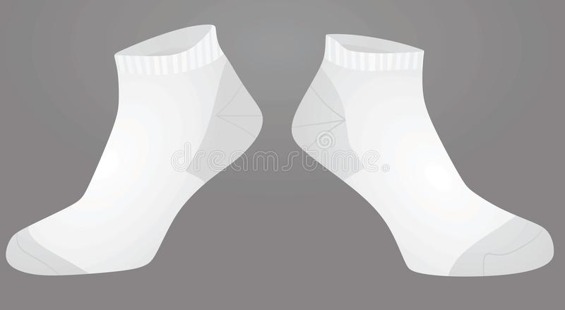 Calcetines cortos del blanco stock de ilustración