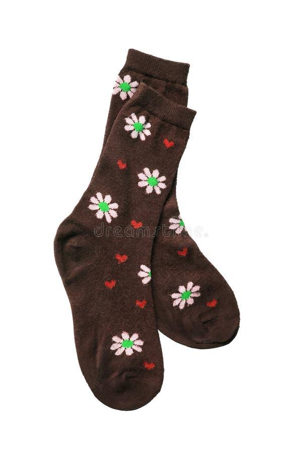 Calcetines de Brown foto de archivo libre de regalías