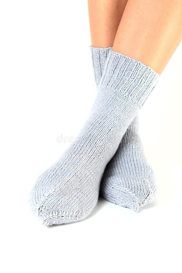 Calcetines de lana. fotografía de archivo