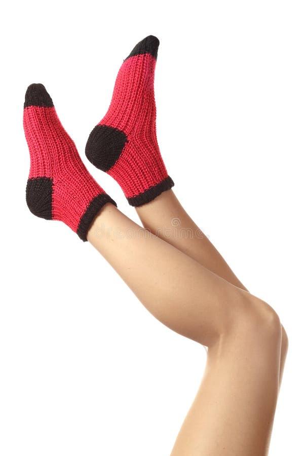 Calcetines de lana. foto de archivo