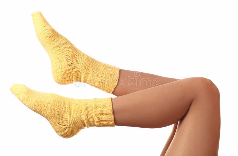 Calcetines de lana. imagen de archivo