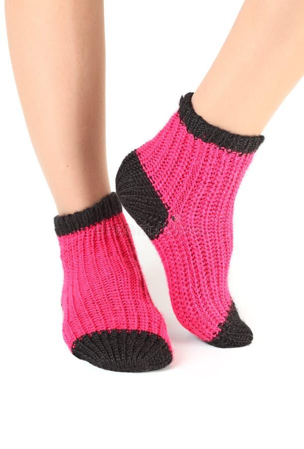 Calcetines de lana. fotos de archivo