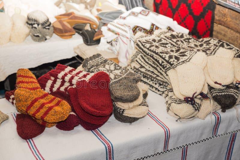 Calcetines de las lanas fotografía de archivo libre de regalías