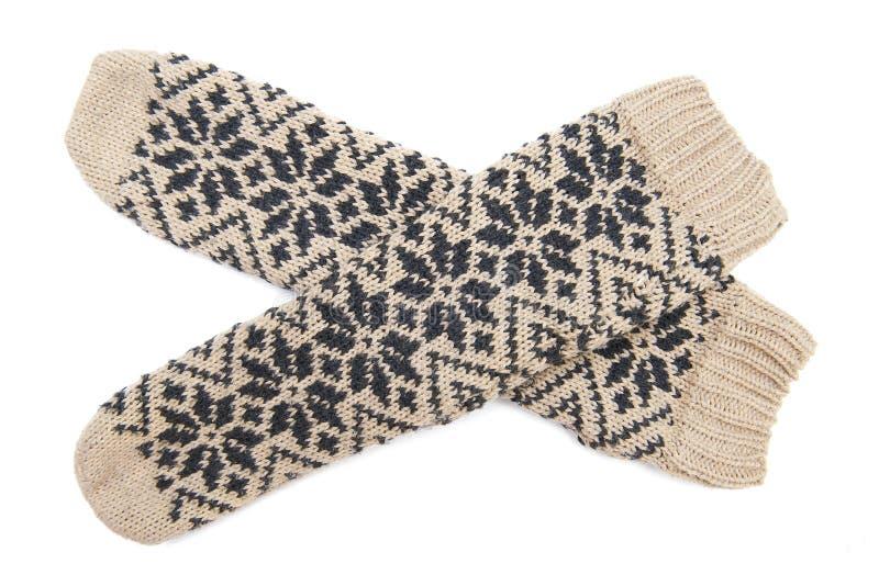Calcetines del invierno foto de archivo libre de regalías
