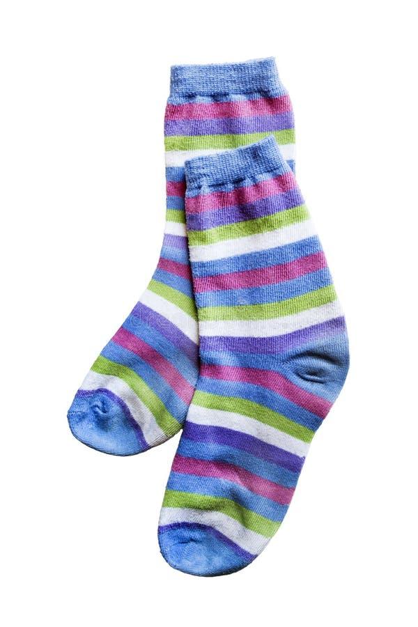 Calcetines rayados fotografía de archivo libre de regalías