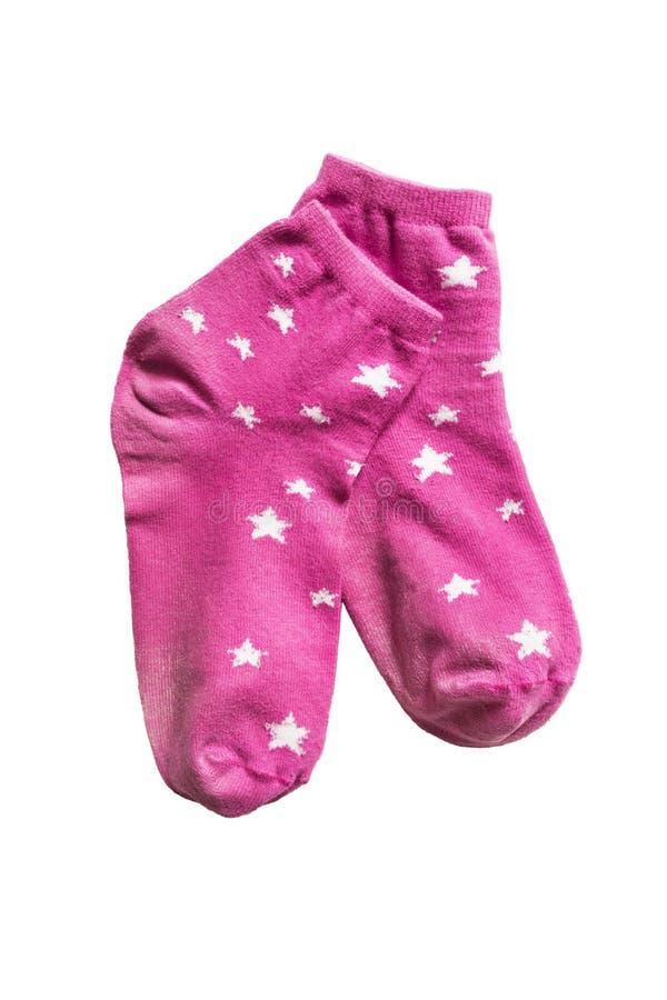 Calcetines rosados fotografía de archivo