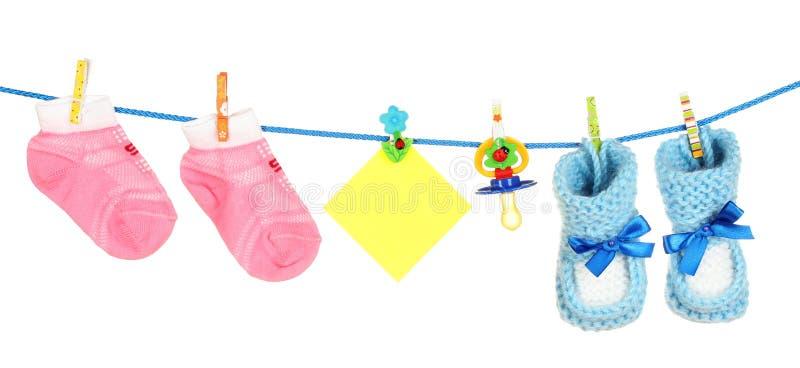 Calcetines y botines del bebé fotografía de archivo libre de regalías