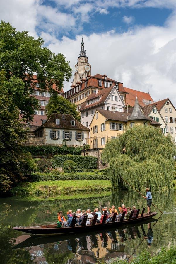 Calciando sul fiume Neckar immagine stock libera da diritti