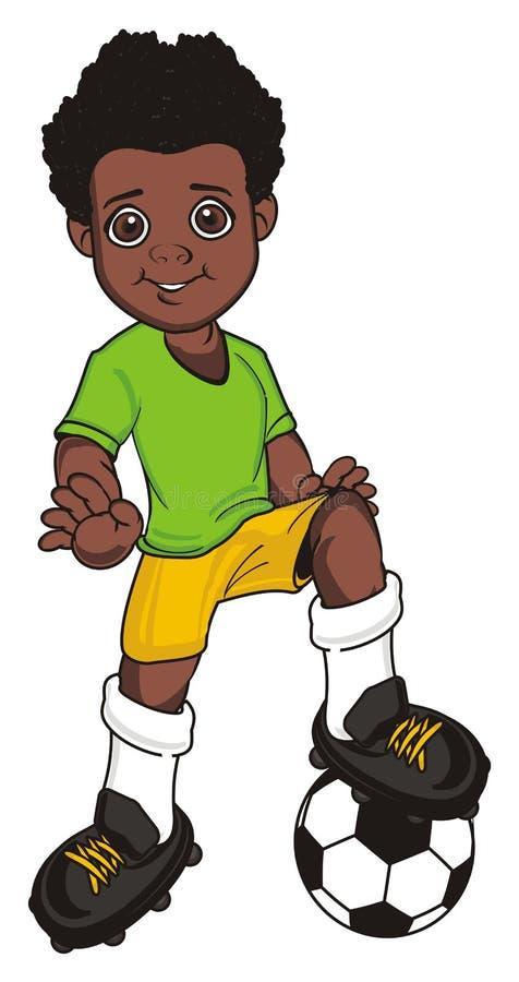 Calciatore di afro illustrazione vettoriale