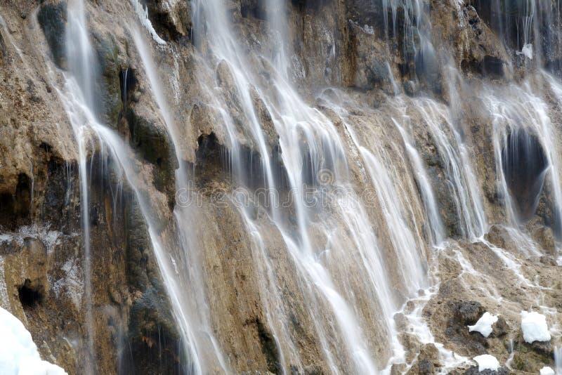 Calcified waterfall in jiuzhaigou