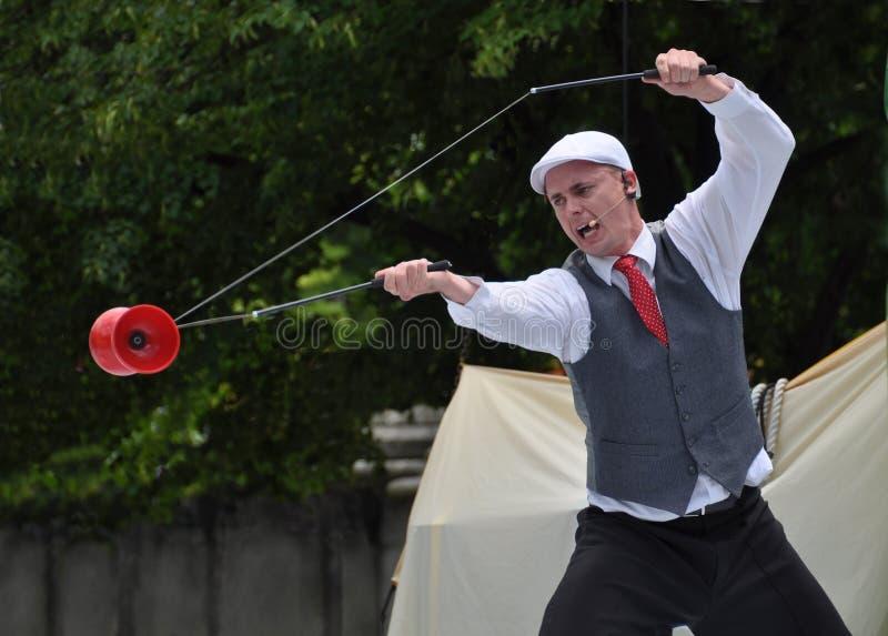 Calcinador Treleaven, festival dos Buskers do mundo imagens de stock