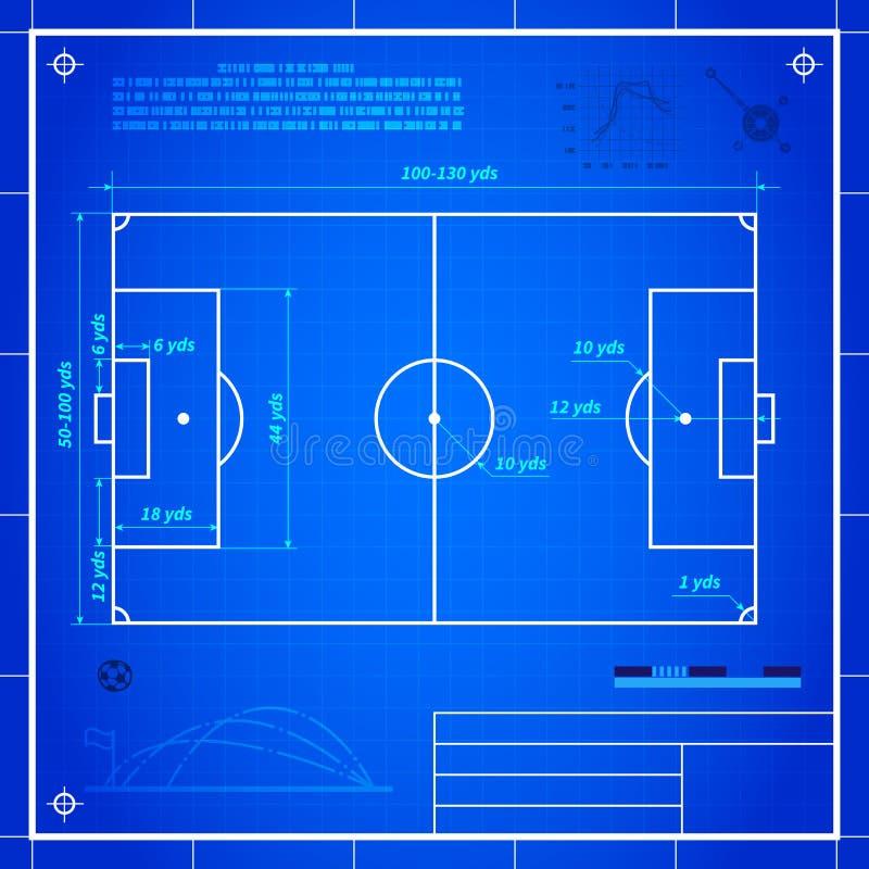 Calcio classico delle misure del campo da calcio - Misure porta di calcio ...