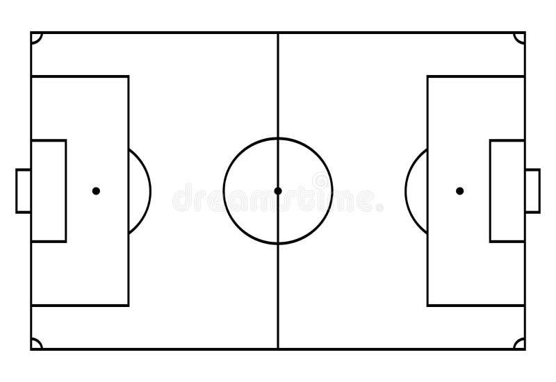 Calcio, corte di calcio Fondo di sport Linea stile di arte illustrazione vettoriale