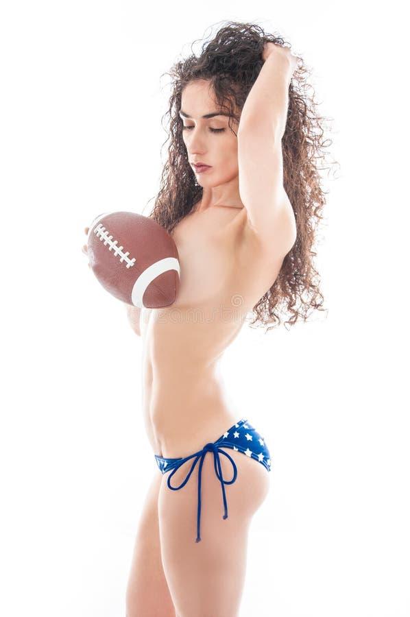 Calcio del bikini di U.S.A. fotografie stock