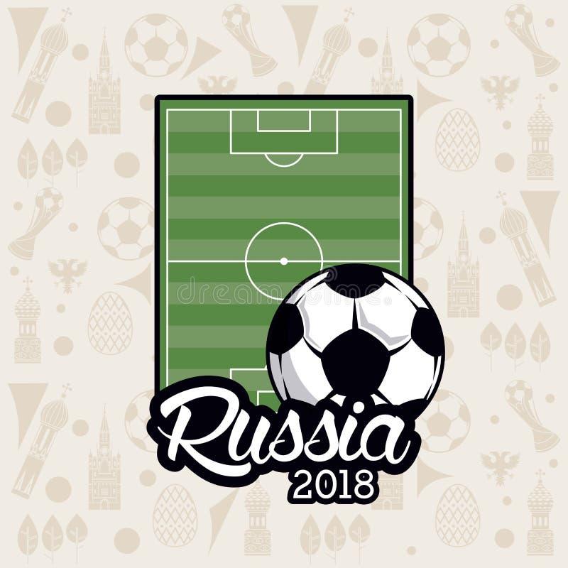 Calcio 2018 del mondo della Russia royalty illustrazione gratis