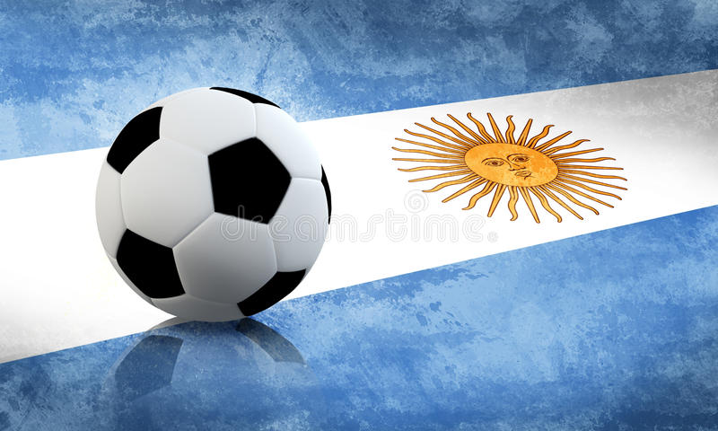 Calcio dell'Argentina illustrazione di stock