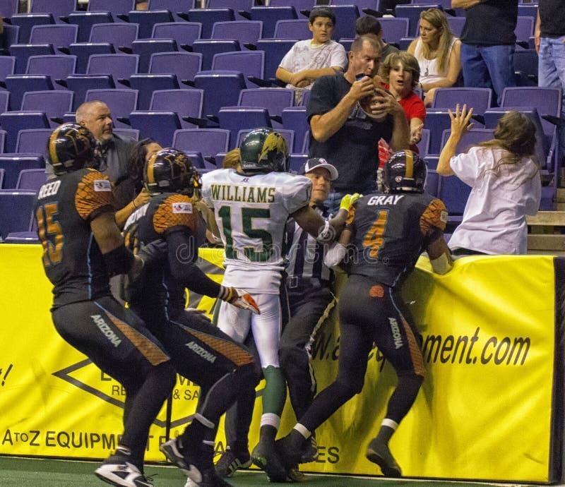 Calcio dell'interno dell'arena con l'Arizona Rattlers immagine stock libera da diritti