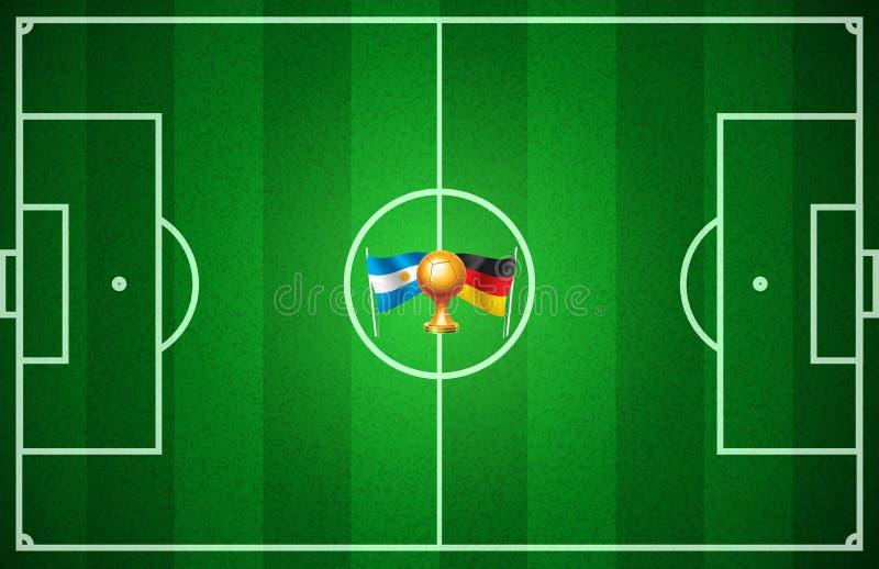 Calcio della coppa del Mondo illustrazione vettoriale