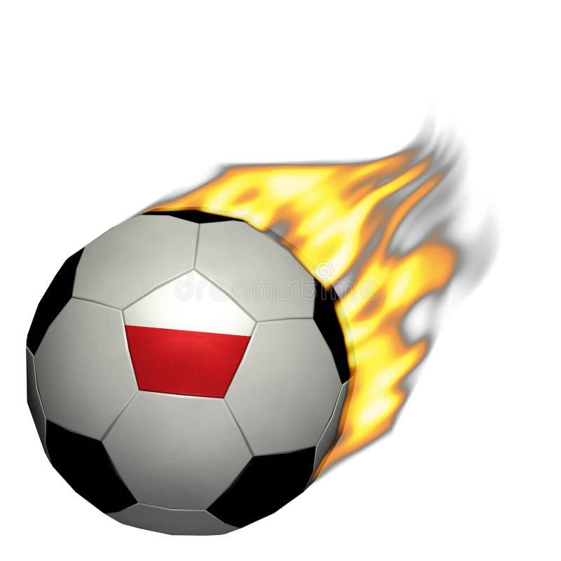 Calcio della coppa del Mondo/calcio - Polonia su fuoco immagini stock