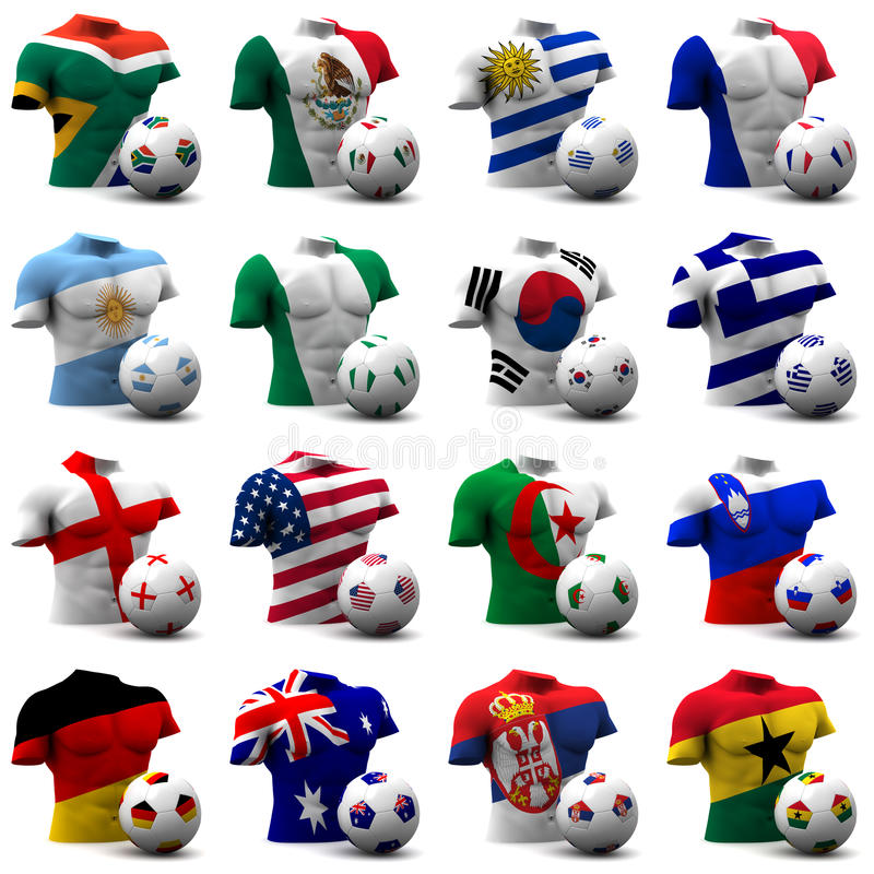 Calcio della tazza di mondo - Sudafrica 2010 illustrazione di stock