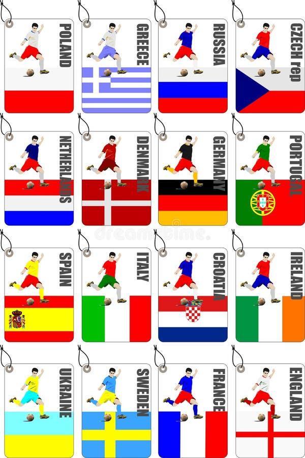 Calcio di calcio illustrazione vettoriale