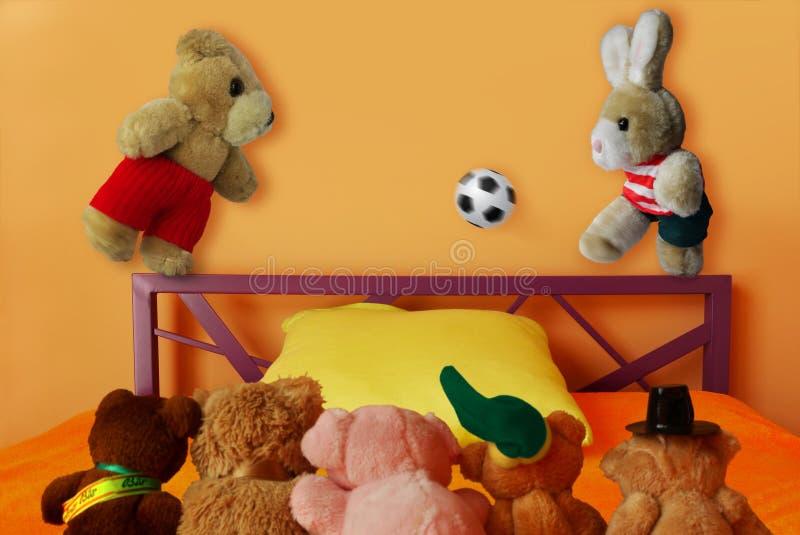 Calcio morbido di calcio dei giocattoli fotografie stock