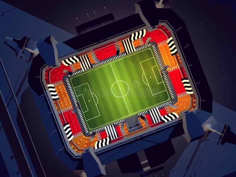 calcio stadium fotografie stock libere da diritti