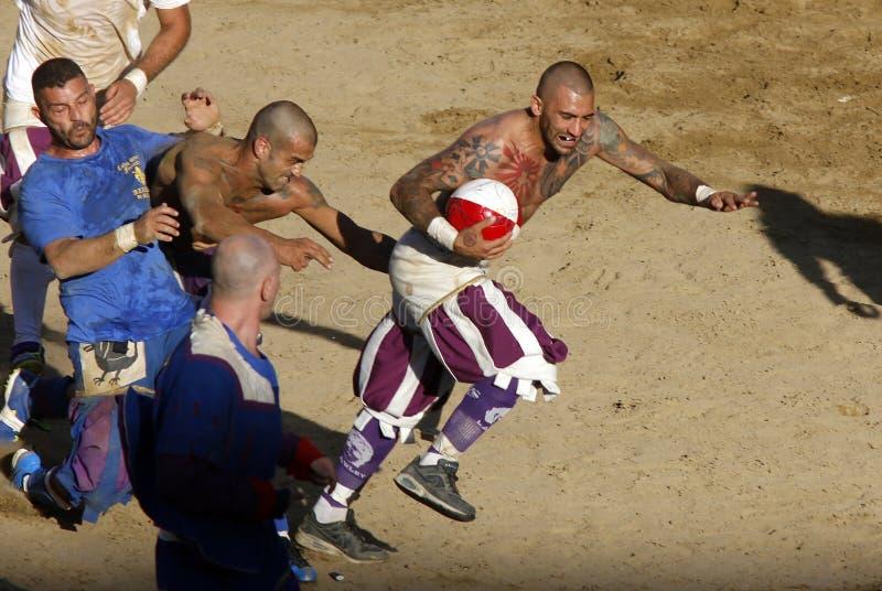 Calcio Storico Fiorentino royaltyfri fotografi