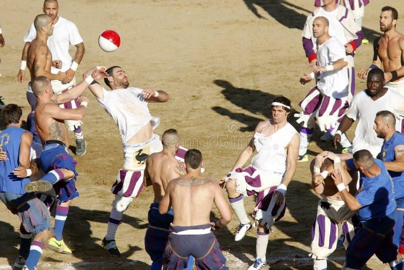Calcio Storico Fiorentino arkivbild