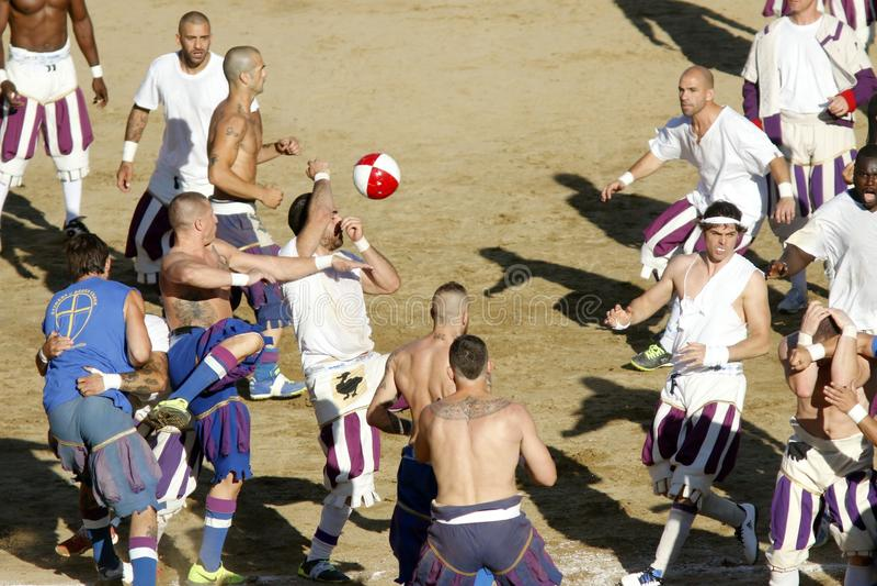 Calcio Storico Fiorentino royaltyfri foto