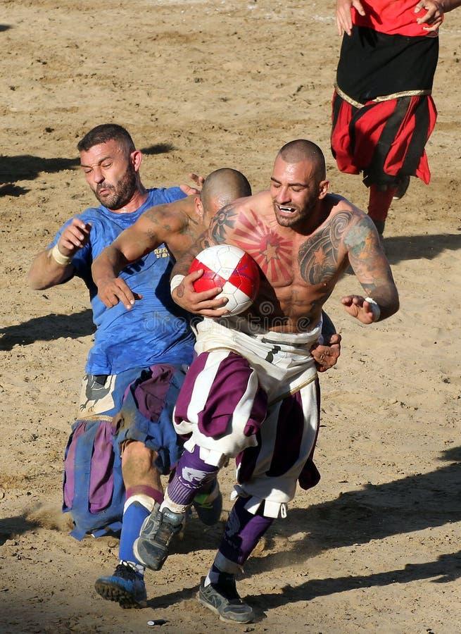 Calcio Storico Fiorentino arkivfoton