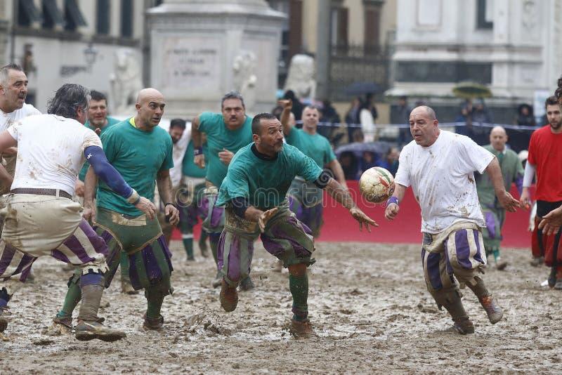 Calcio storico, florence, Italien royaltyfri fotografi