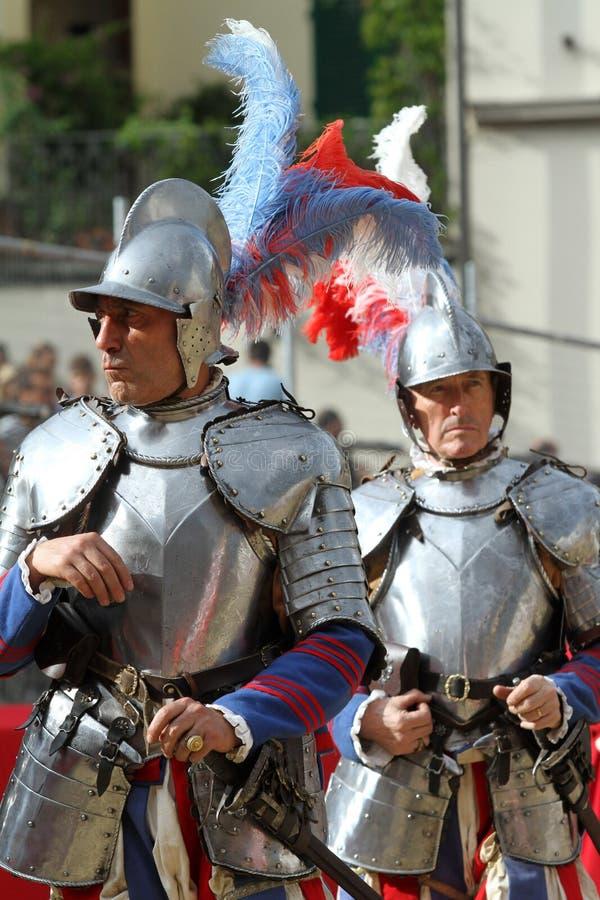 Calcio storicofiorentino, florence royaltyfria foton