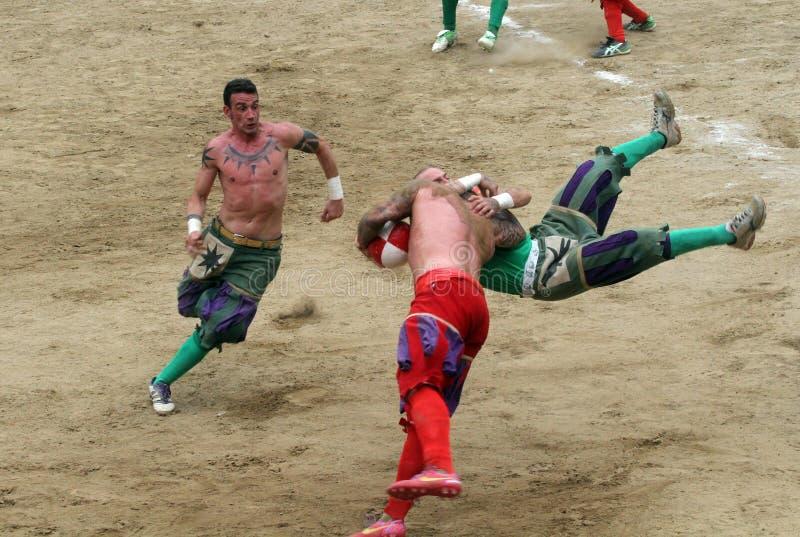 Calcio storicofiorentino, florence arkivfoton