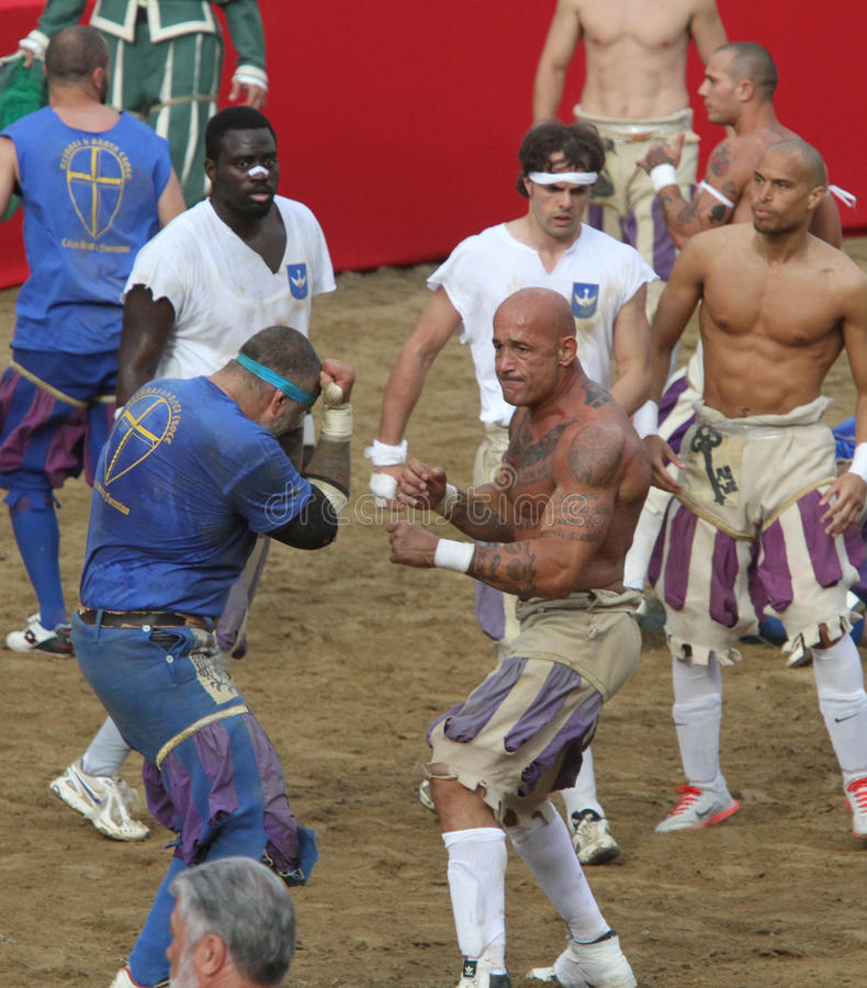 Calcio storicofiorentino, florence arkivfoto