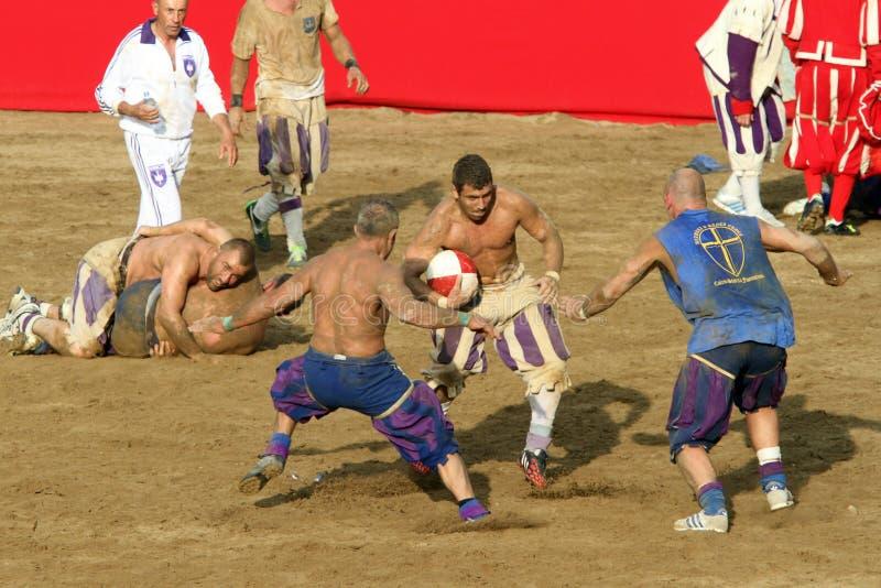 Calcio storicofiorentino, florence arkivbild