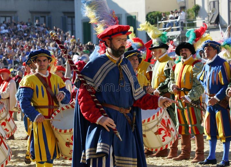 Calcio storicofiorentino, florence royaltyfria bilder